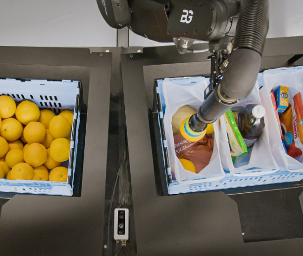 Convert goods-to-person pick stations into goods-to-robot stations to decrease reliance on labor and increase picking accuracy.