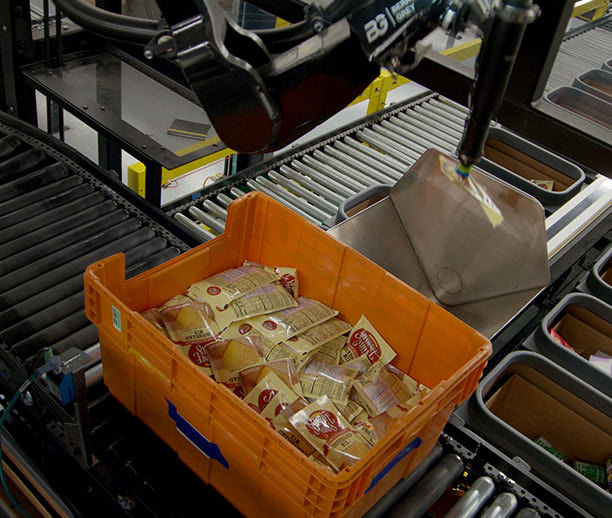 Utilize novel and flexible handling and sorting of eaches and case-level items required to fulfill modern cross-docking delivery applications.