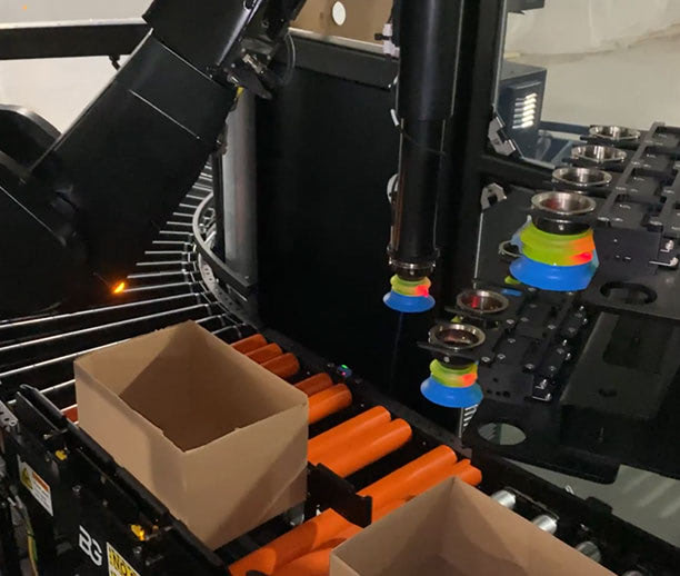 Serve items from manual storage locations, traditional conveyor handling systems, totes, carts, or any commercial mini-shuttle or robotic ASRS.